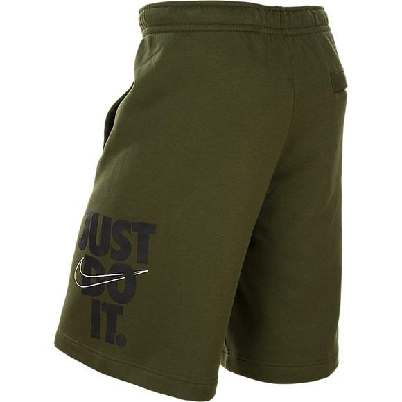 0bdada467a4 🔥 NWT NIKE JUST DO IT Olive ARMY Fleece Shorts NWT